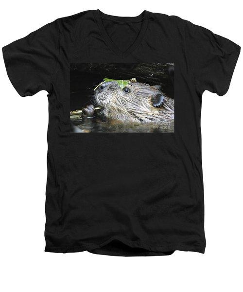 Busy Beaver Men's V-Neck T-Shirt