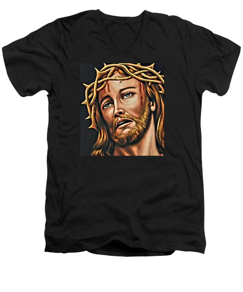 But For Grace Men's V-Neck T-Shirt
