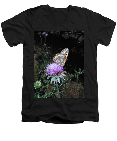 Butterfly At Peace Men's V-Neck T-Shirt