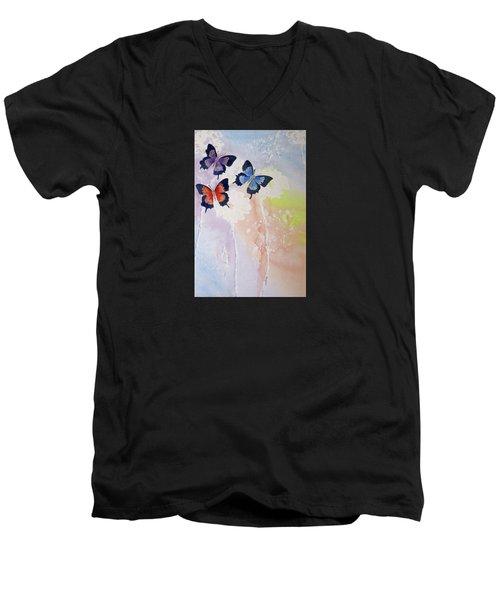 Butterfly Dream Men's V-Neck T-Shirt by Elvira Ingram