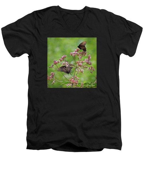 Butterfly Duet  Men's V-Neck T-Shirt
