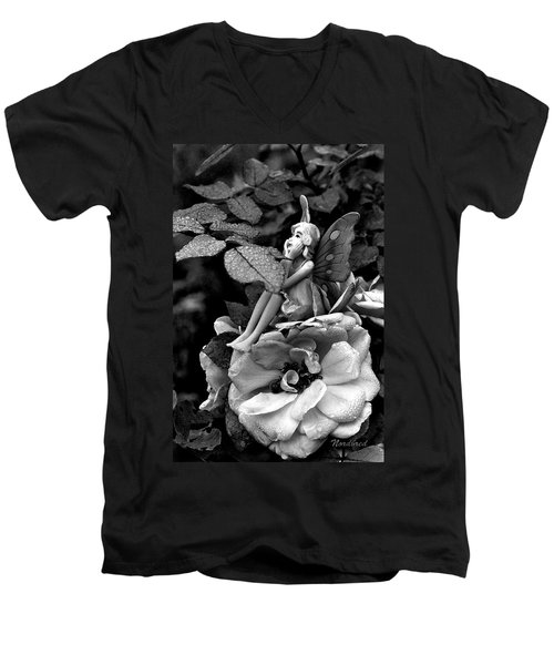 Butterfly Girl Men's V-Neck T-Shirt