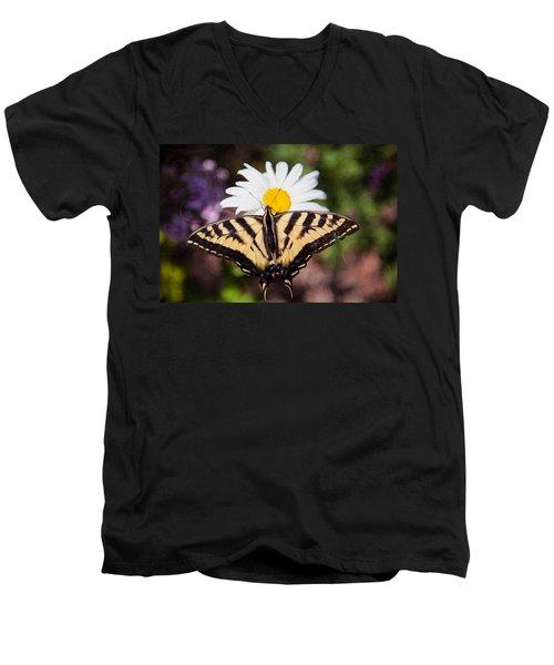 Butterfly Kisses Men's V-Neck T-Shirt