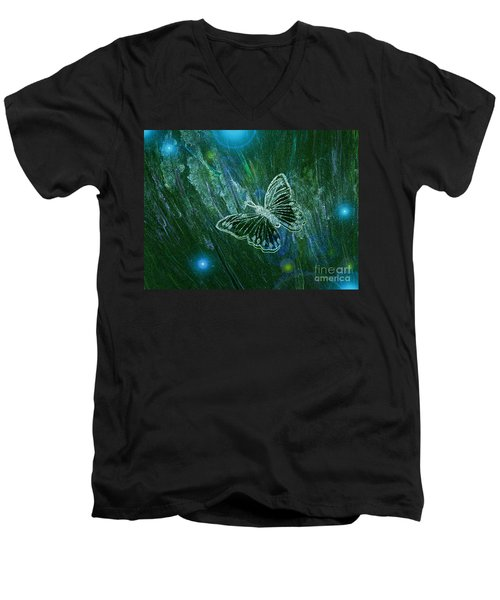 Butterfly Magic By Jrr Men's V-Neck T-Shirt