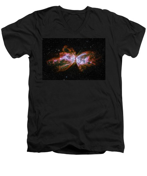 Butterfly Nebula Ngc6302 Men's V-Neck T-Shirt