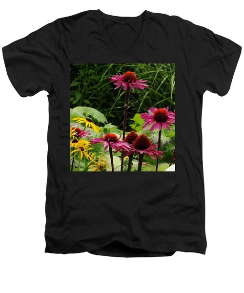 Men's V-Neck T-Shirt featuring the photograph Button Up by Natalie Ortiz