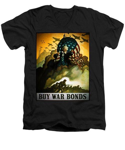 Buy War Bonds Men's V-Neck T-Shirt by Robert Geary