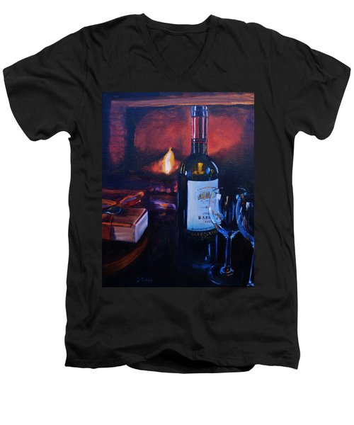 By The Fire Men's V-Neck T-Shirt