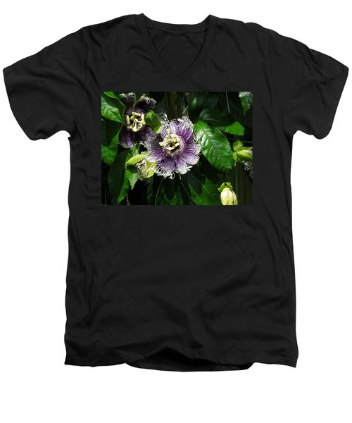 Men's V-Neck T-Shirt featuring the photograph Byron Beauty by Ron Davidson
