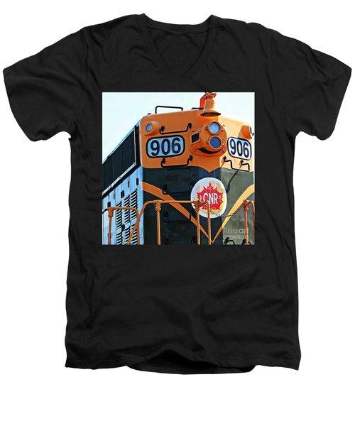 C N R Train 906 Men's V-Neck T-Shirt by Barbara Griffin