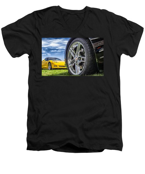 C Sixes Men's V-Neck T-Shirt by Gary Warnimont