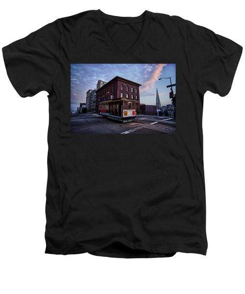 Cable Car Men's V-Neck T-Shirt