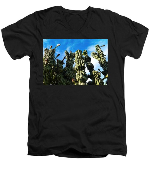 Cactus 1 Men's V-Neck T-Shirt