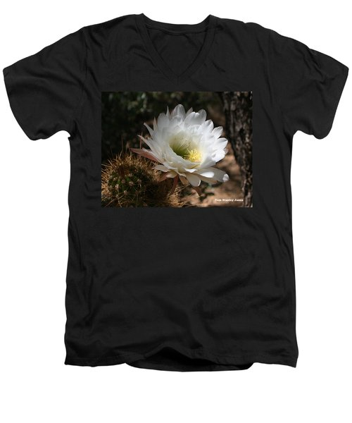 Cactus Flower Full Bloom Men's V-Neck T-Shirt