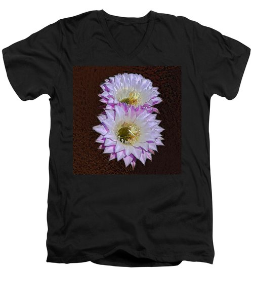 Cactus Flowers Men's V-Neck T-Shirt