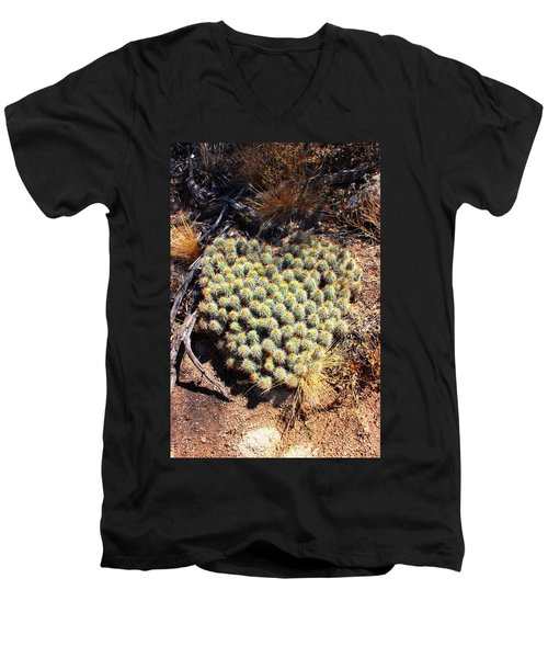 Men's V-Neck T-Shirt featuring the photograph Cacti Need Love Too by Natalie Ortiz