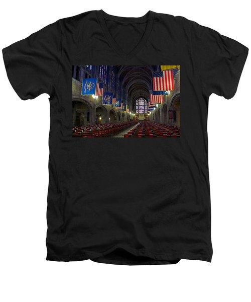 Cadet Chapel At West Point Men's V-Neck T-Shirt
