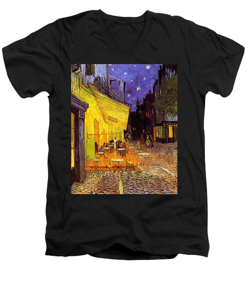 Cafe Terrace At Night Men's V-Neck T-Shirt
