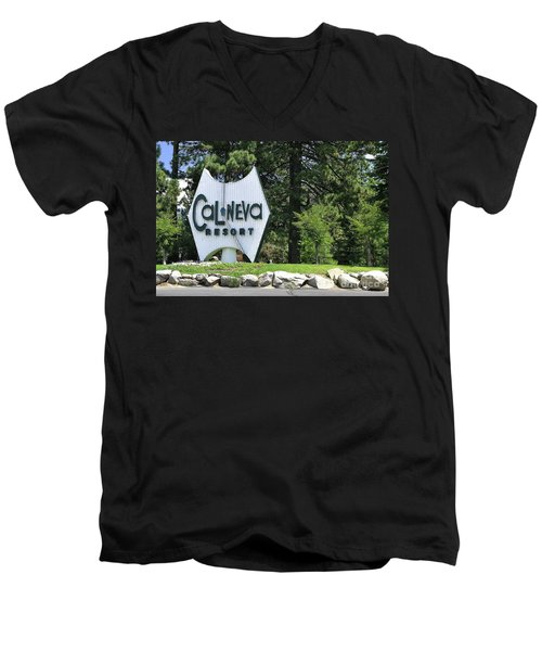 Cal Neva Resort - Lake Tahoe Men's V-Neck T-Shirt