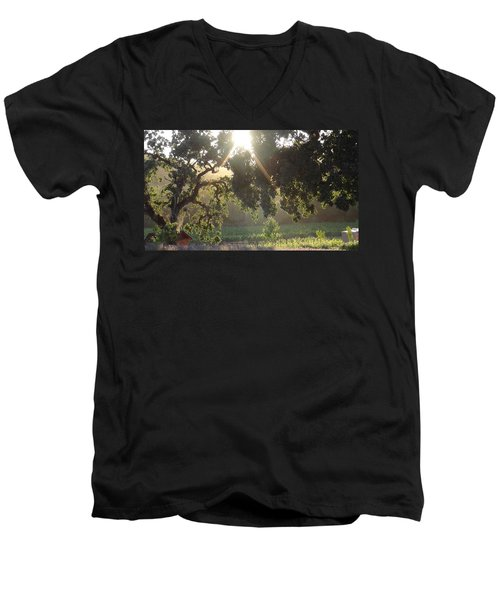Men's V-Neck T-Shirt featuring the photograph Cali Lite by Shawn Marlow