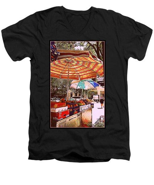 Men's V-Neck T-Shirt featuring the photograph California Oranges by Miriam Danar