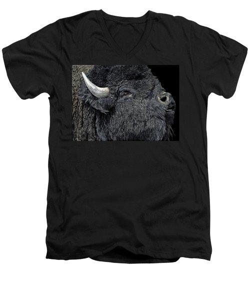 Call Of The Prairie Men's V-Neck T-Shirt