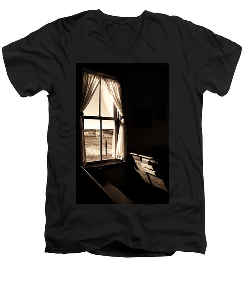 Men's V-Neck T-Shirt featuring the photograph Call To Worship by Jim Garrison