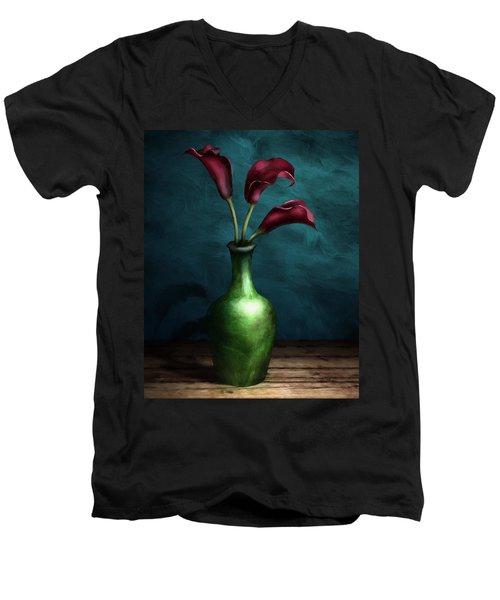 Calla Lilies I Men's V-Neck T-Shirt