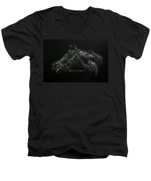Calling Men's V-Neck T-Shirt by Leena Pekkalainen