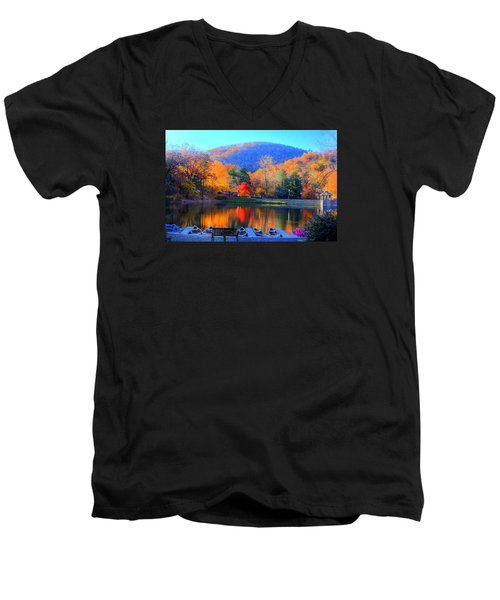 Calm Waters In The Mountains Men's V-Neck T-Shirt