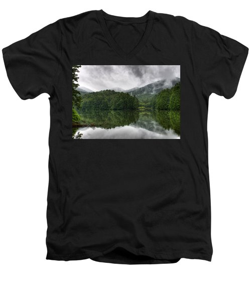 Calm Waters Men's V-Neck T-Shirt by Rebecca Hiatt