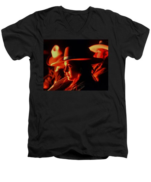 Campfire Glow Men's V-Neck T-Shirt