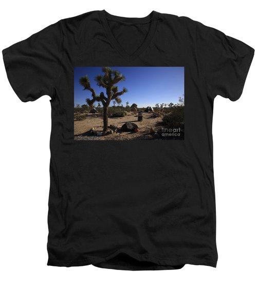 Camping In The Desert Men's V-Neck T-Shirt