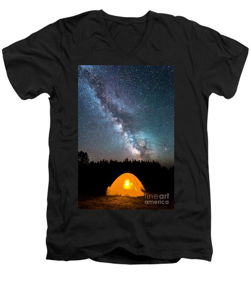 Camping Under The Stars Men's V-Neck T-Shirt