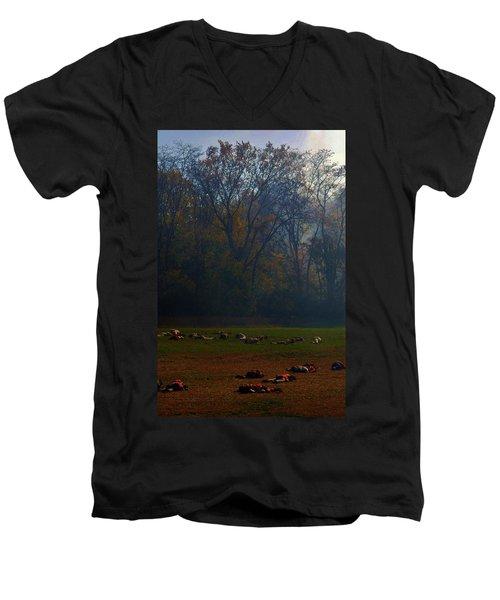 Can You Find The Survivor  Men's V-Neck T-Shirt