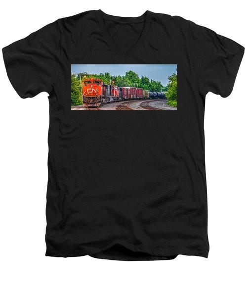 Canadian National Men's V-Neck T-Shirt