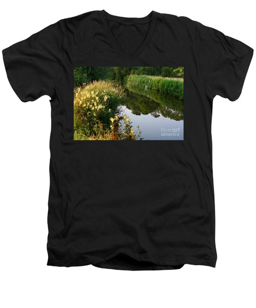 Canal Reflections Men's V-Neck T-Shirt