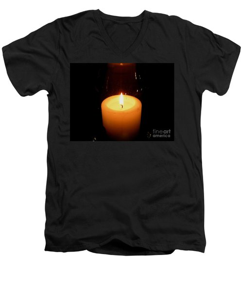 Candlelight Moments Men's V-Neck T-Shirt by Joseph Baril