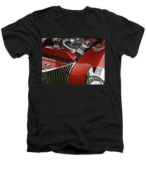 Candy Apple Red And Chrome Men's V-Neck T-Shirt