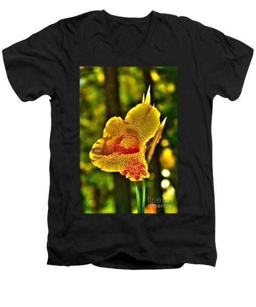 Canna Wow Men's V-Neck T-Shirt