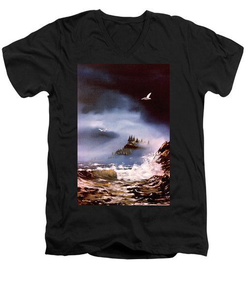 Cannon Beach Oregon Men's V-Neck T-Shirt