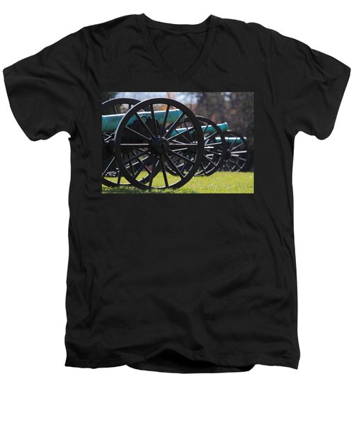 Cannons Of Manassas Battlefield Men's V-Neck T-Shirt