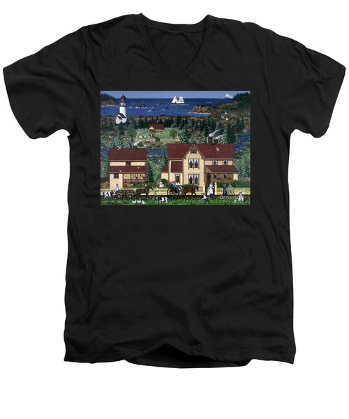 Cape Blanco Men's V-Neck T-Shirt by Jennifer Lake