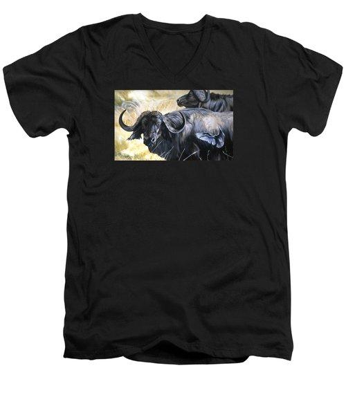 Da206 Cape Buffalo By Daniel Adams Men's V-Neck T-Shirt