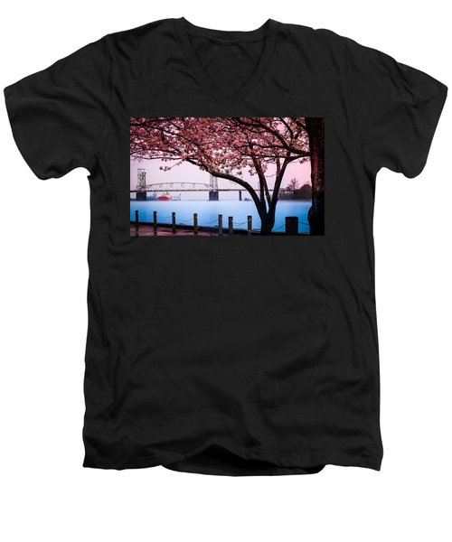 Cape Fear Of Wilmington Men's V-Neck T-Shirt