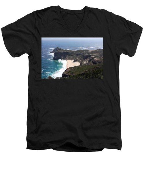 Cape Of Good Hope Coastline - South Africa Men's V-Neck T-Shirt by Aidan Moran