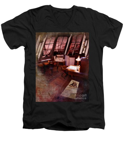Captain's Cabin On The Dicey Men's V-Neck T-Shirt