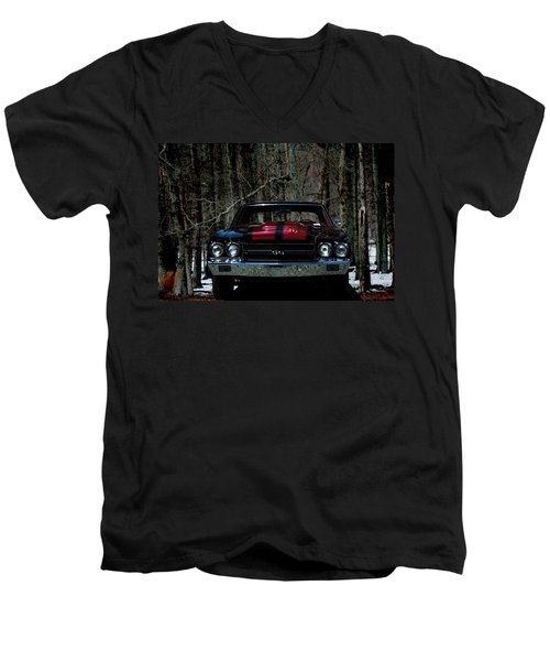 Car Art Chevy Chevelle Ss Hdr Men's V-Neck T-Shirt