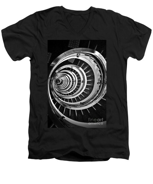 Time Tunnel Spiral Staircase In Sao Paulo Brazil Men's V-Neck T-Shirt