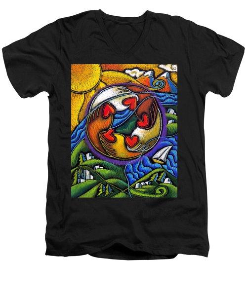 Care Men's V-Neck T-Shirt